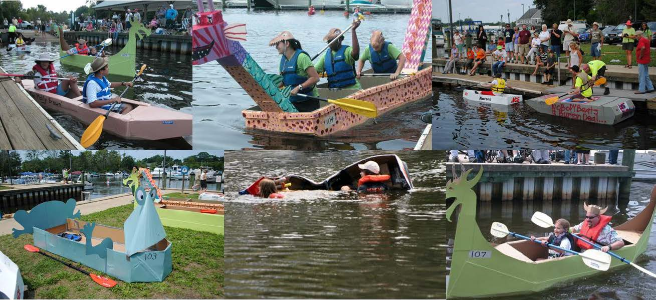 Image result for cardboard boat regatta