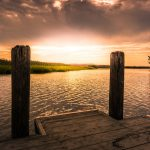 Woodland Beach Boat Ramp at Sunset by Zachary Williams